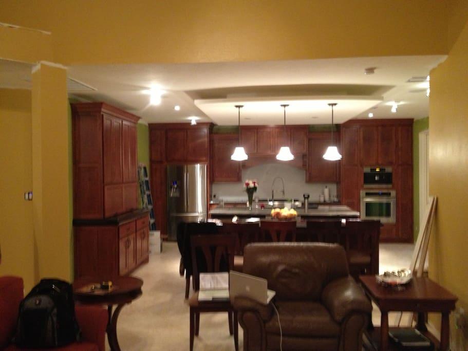 Open floor plan with Chef's kitchen