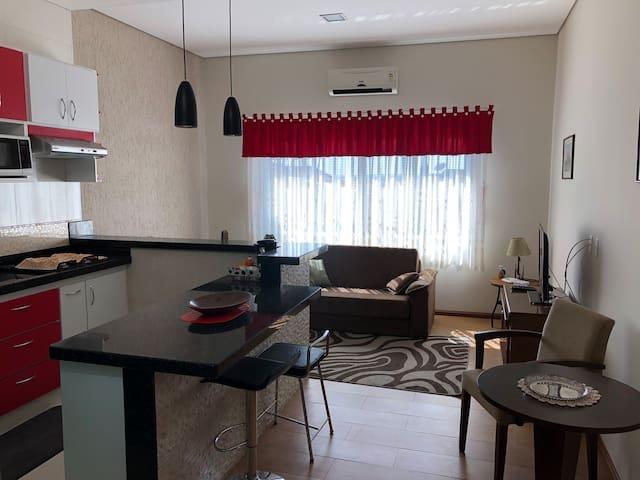 Flat aconchegante no centro, piraju, brasil