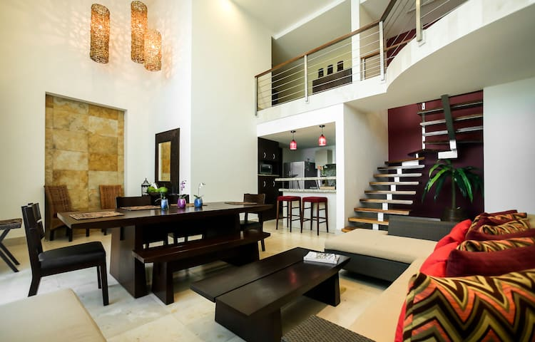2 Bedroom Loft with pool view and nearby to beach - Cancún - Loft