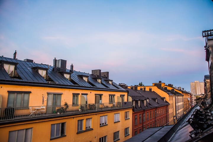Lux penthouse stay: shopping, nightlife & old town - Stockholm - Byt