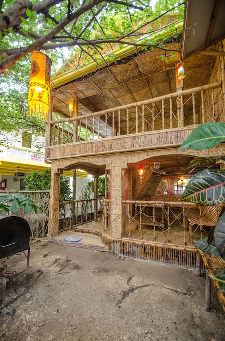BBQ area and Bamboo lounge