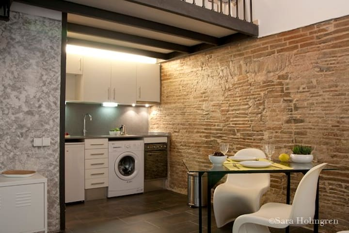 OPEN SPACE RAVAL full equipped+WIFI - Barcelona - Appartement