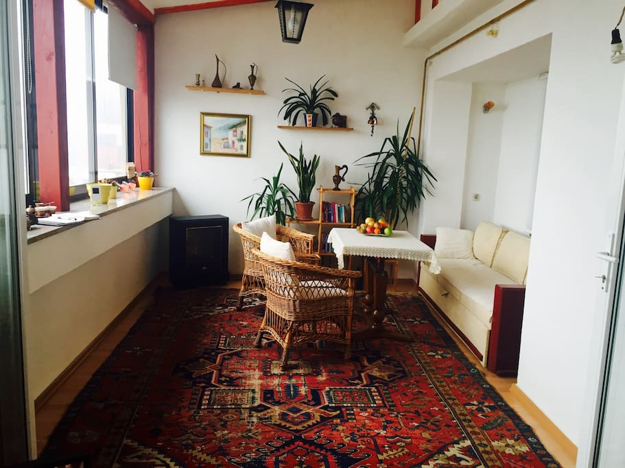 Cozy winter garden room with a great view over Sarajevo and place for chilling