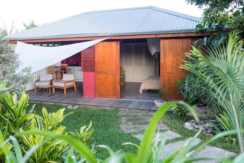 Jardin privatif à chaque bungalow