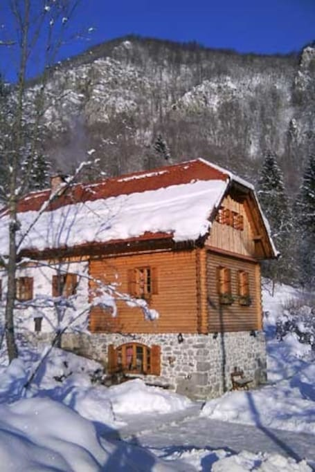 Winter in house Sobol