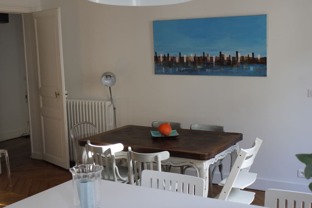 dining room with child chair