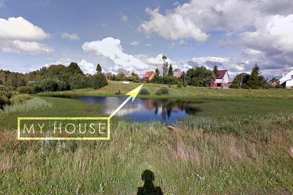 See the pond before the house? You can fish there!