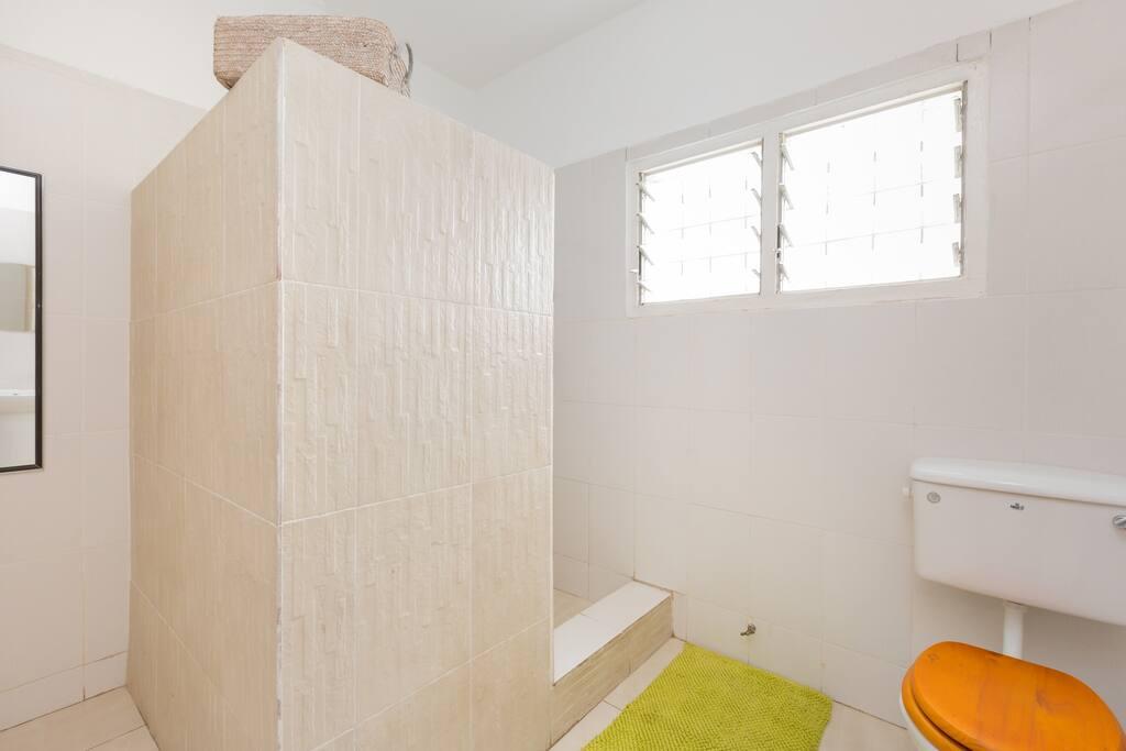 Shower room beside bedroom
