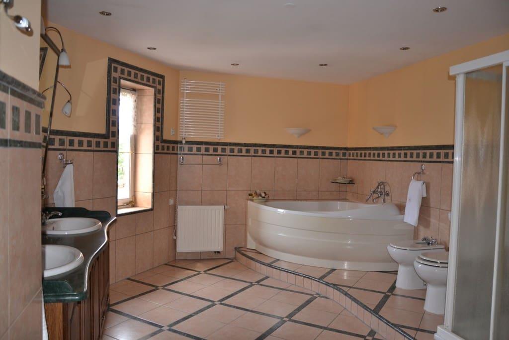 Vaste salle demain double vaque douche et bain balnéo