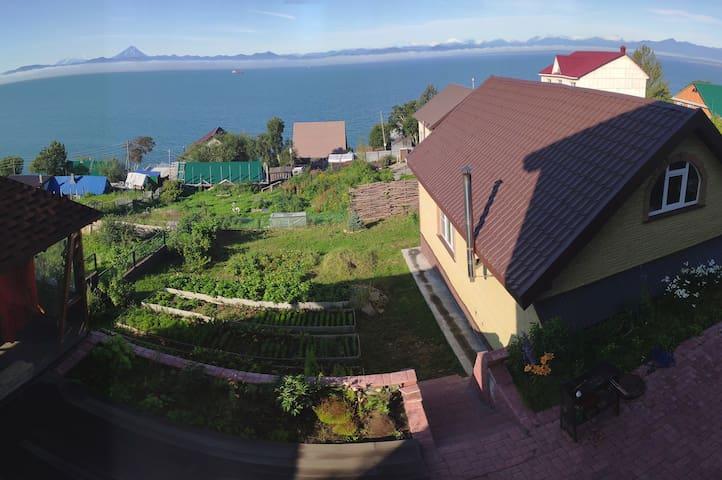 Дом на Беринга с баней и панорамным видом.