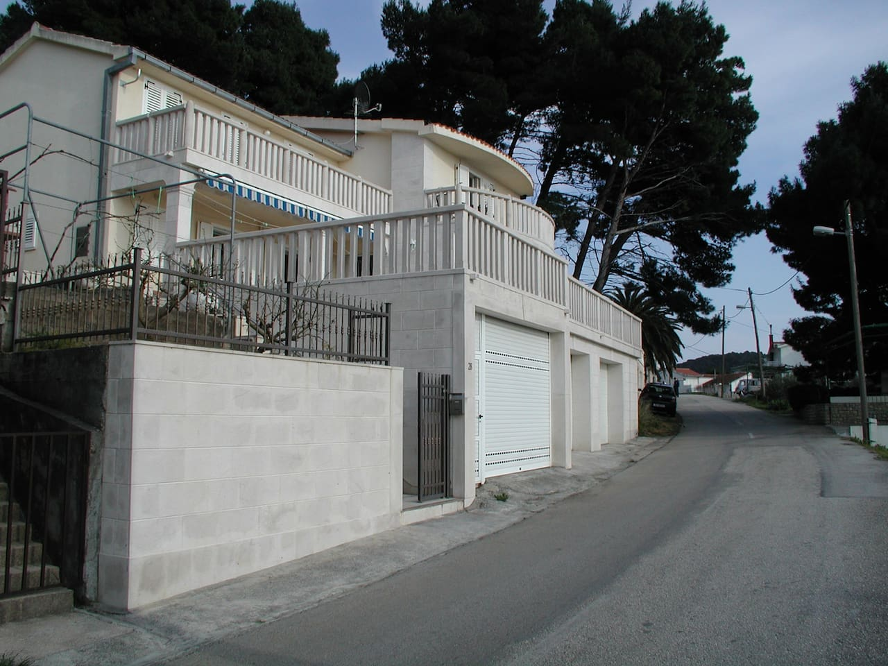 Villas view from the street