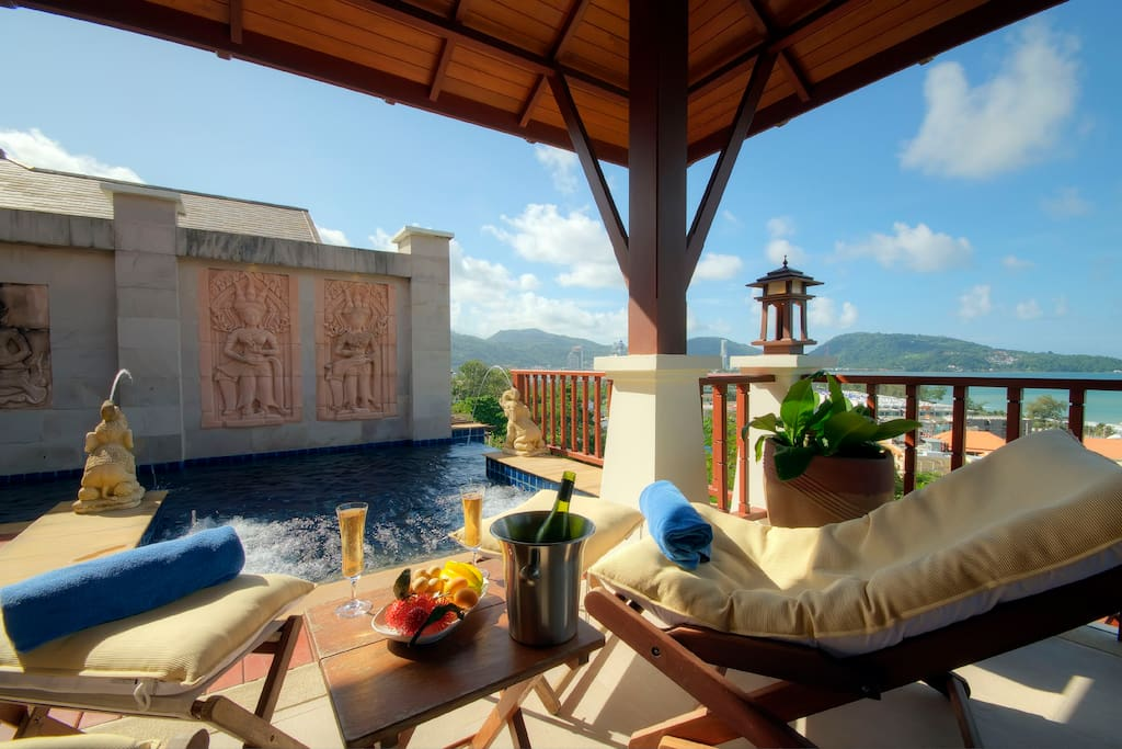 Terrace, Plunge Pool, Water beds