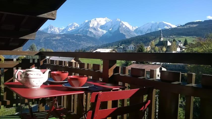 2P vue Mont-Blanc  - Combloux - Apartment