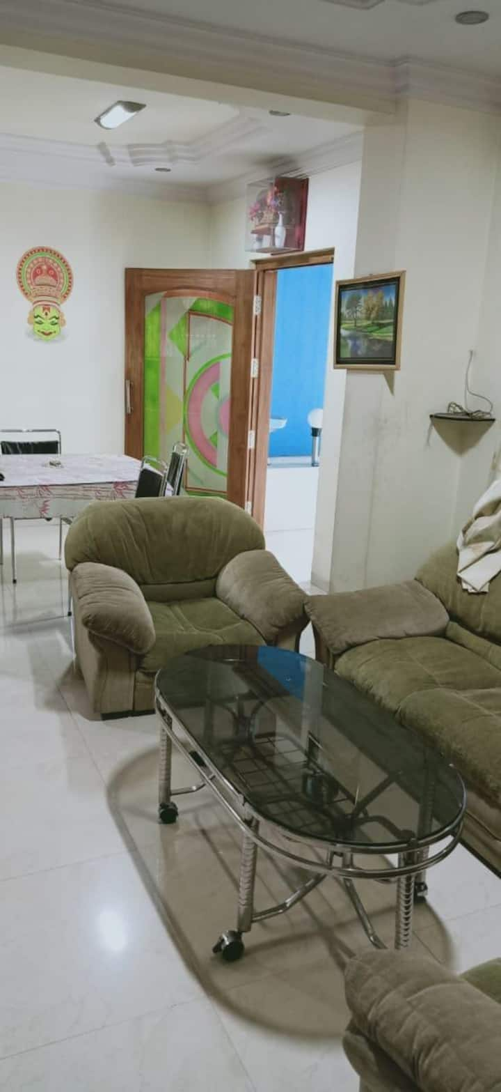 3 BHK Fully Furnished AC Rooms Flat(Khutwad Nagar)