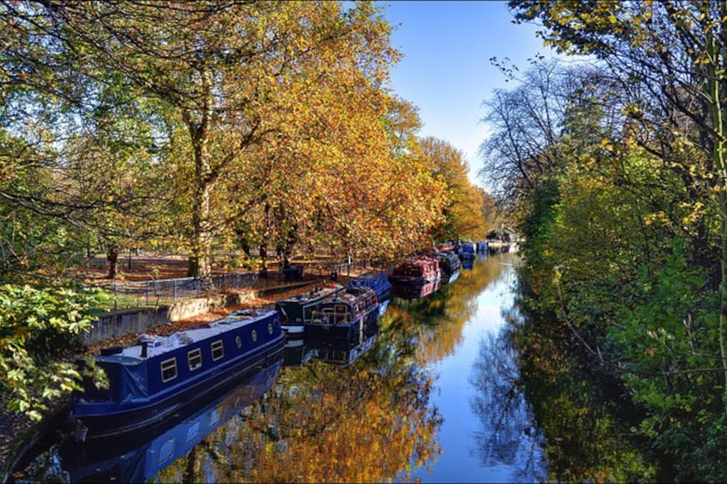 The beautiful Regent's canal makes for a wonderful walk through the city