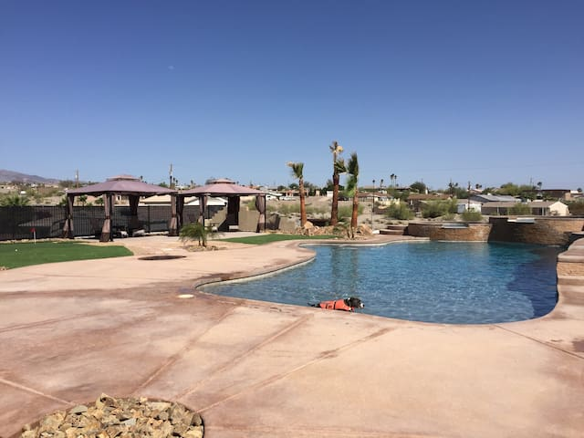 Pool on 1/2 Acre Lake View w/golf - Lake Havasu City - House