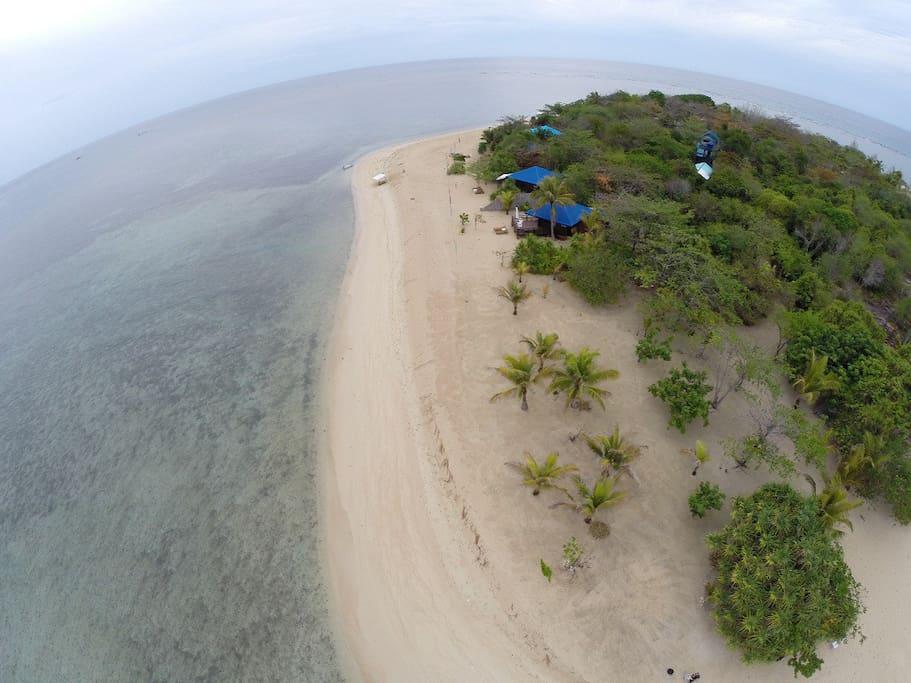 Island - aerial view