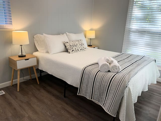 Third Bedroom - this room has plenty of light and closet space. We provide extra blankets to keep you warm on cool evenings!