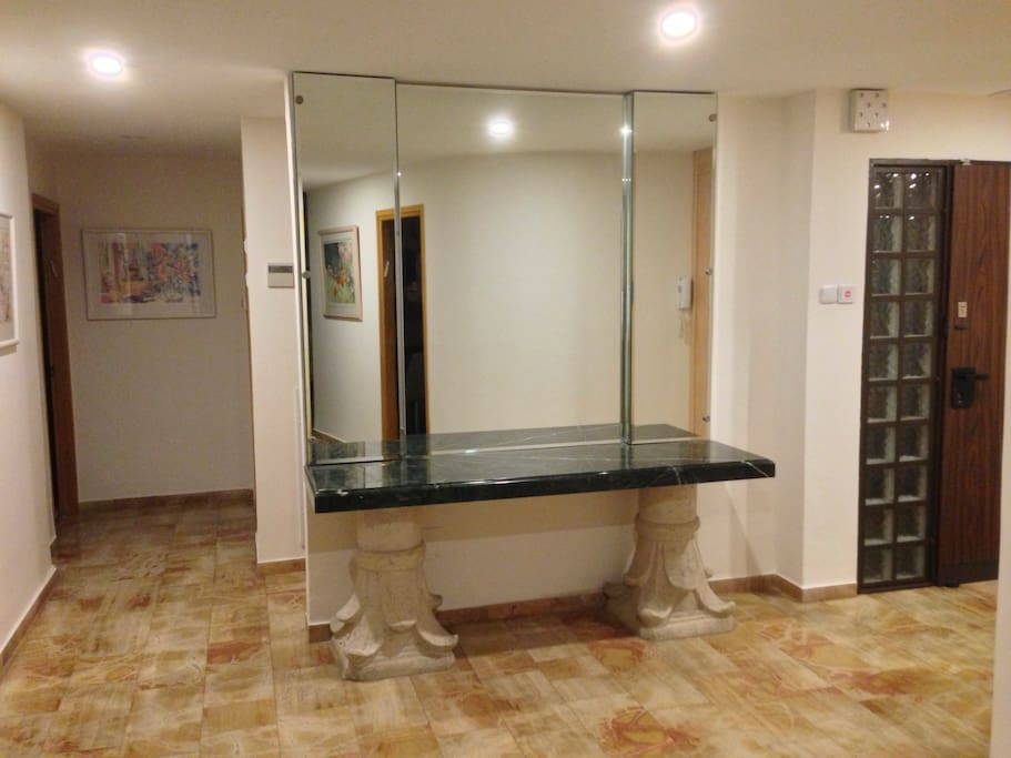 Foyer area of the 120 sqm apartment.