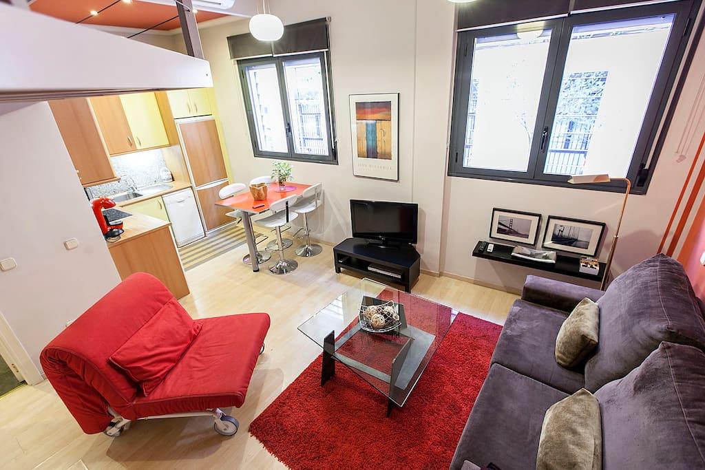 Apart loft madrid reg vt80 lofts en alquiler en madrid - Lofts en madrid ...