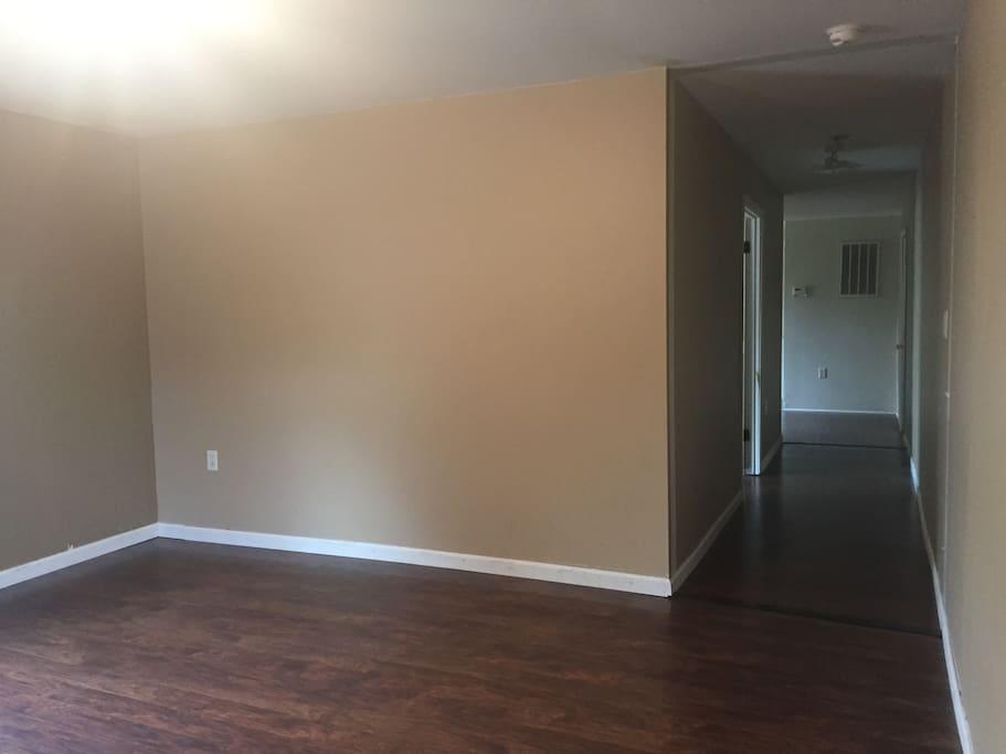 Living Room (looking down hallway)