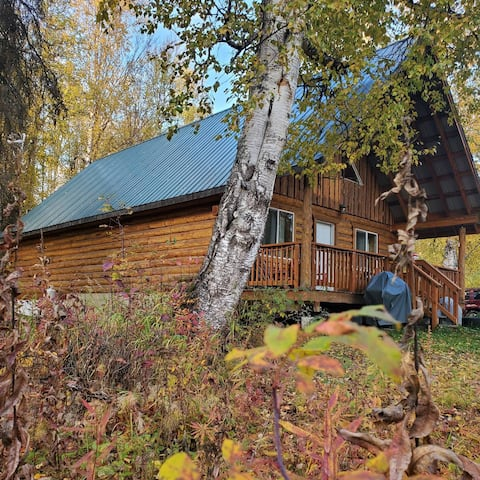 Relax, recharge & rejoice in this log cabin home