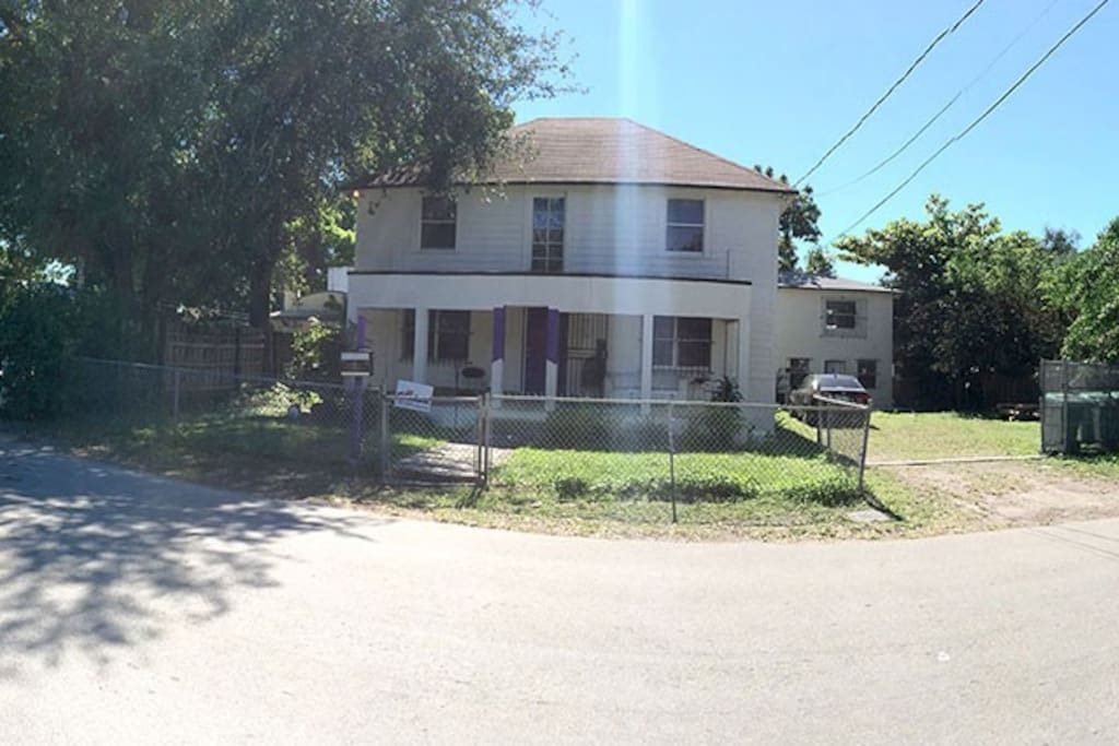 This is the front of the house.