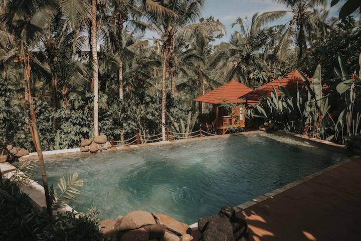 Tropical Sanctuary . Lumbung Twin #5 - KusFarmBali