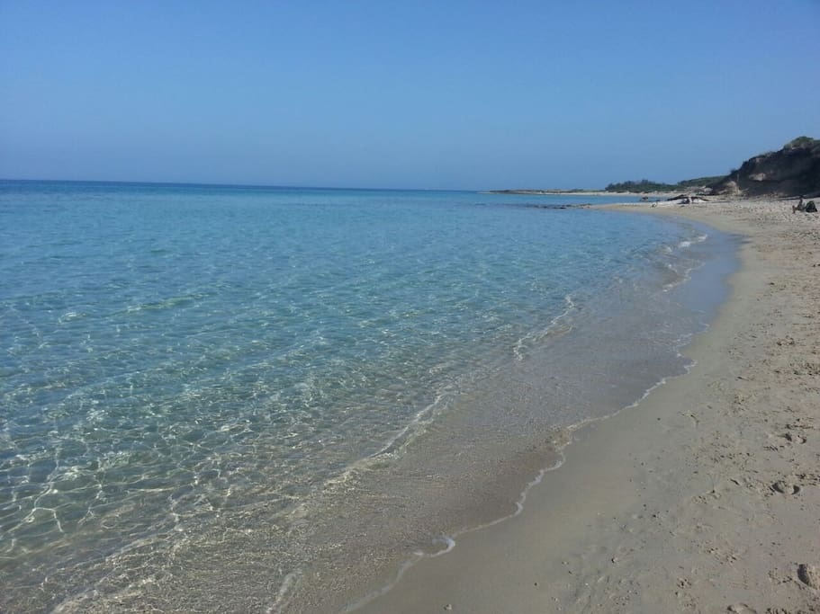 spiaggia nella riserva naturale a pochi km