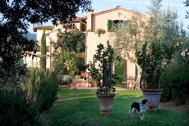 Romantic  accomodation within Tuscan hills