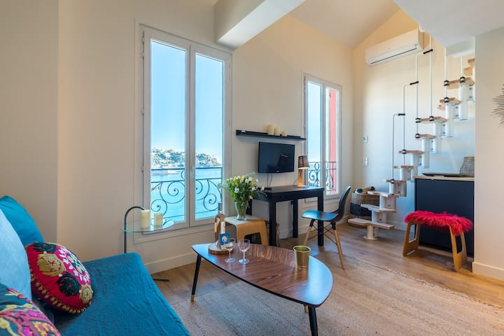 LUNEL B - Great flat with sea view and AC