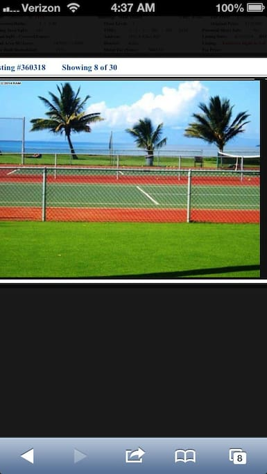 Tennis courts with oceanview also