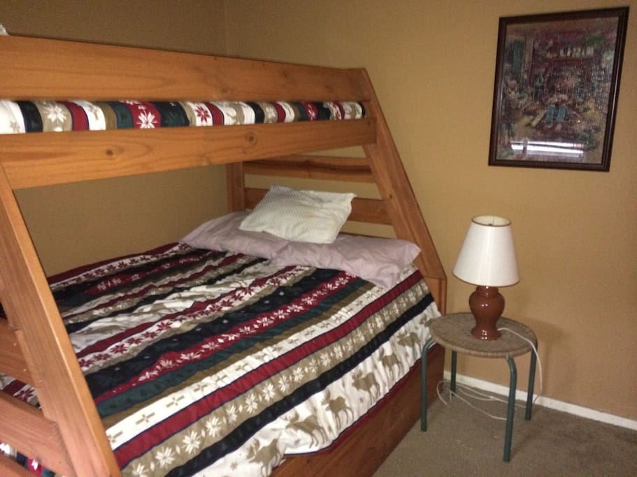 Bedroom with bunk and trundle