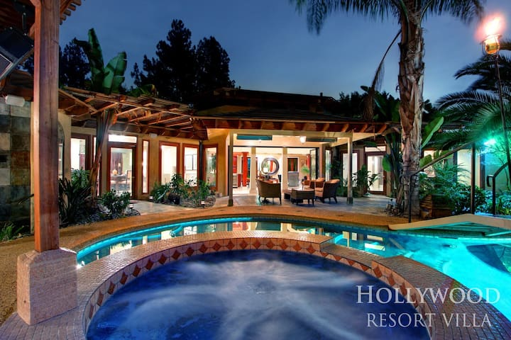 Hollywood Hills Chateau | Lounge, Private, Pool - Los Angeles - Villa