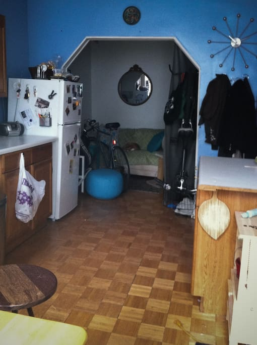 View from Kitchen towards living room