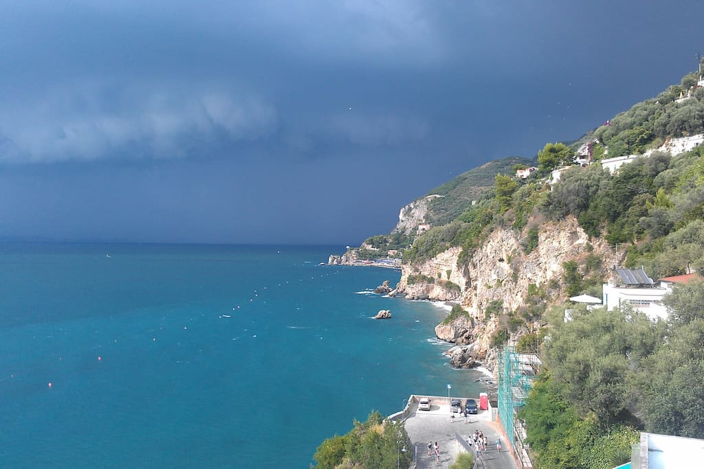 A storm is approaching! View from the terrace