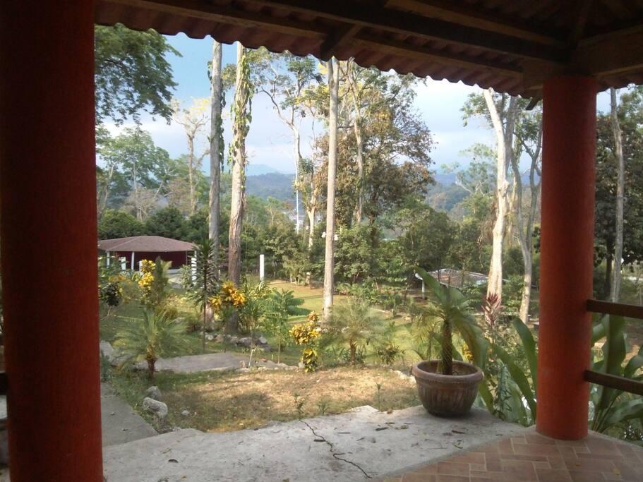 Vista del paisaje de QLM desde la habitación