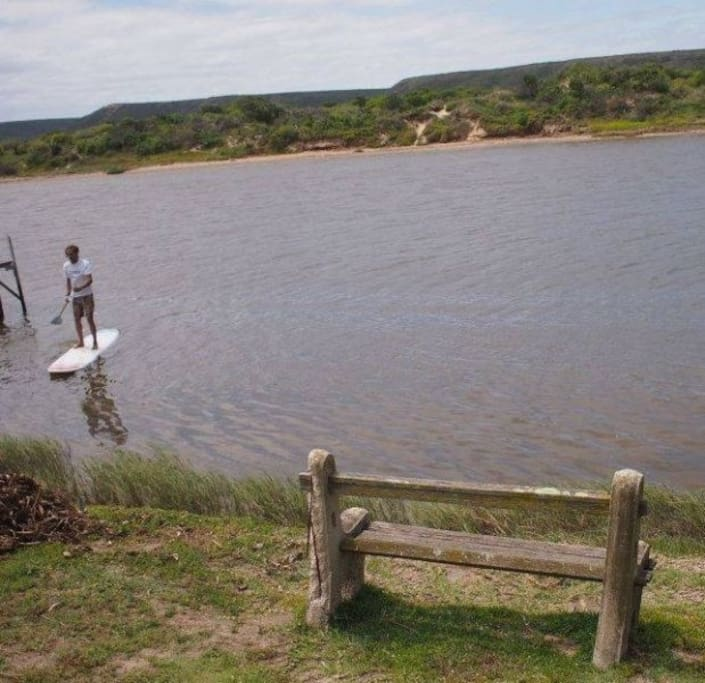 enjoy the tidal salt water river, which doesn't attract mosquitoes