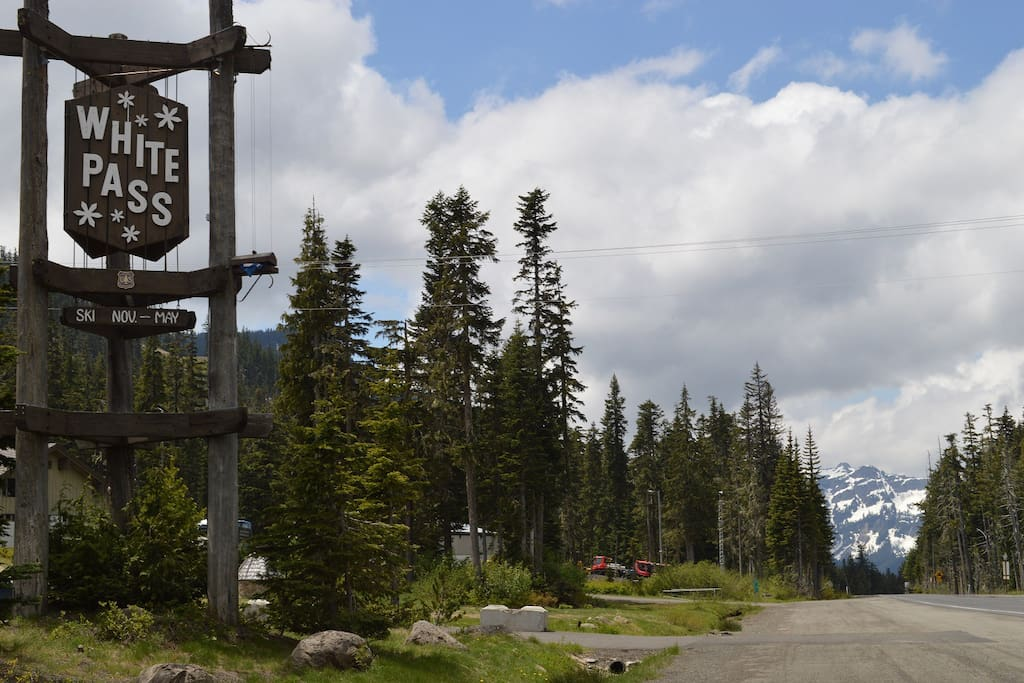White Pass Ski Resort with lots of ski options and dry snow is just 20 minutes up the road.