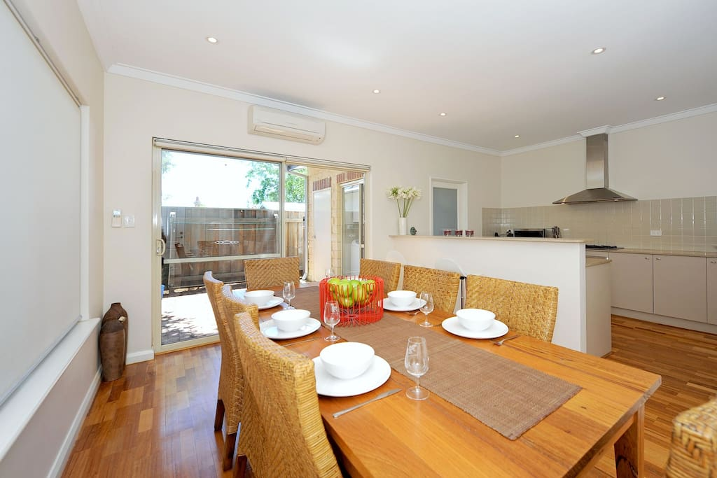 Dining for 8 with room to move