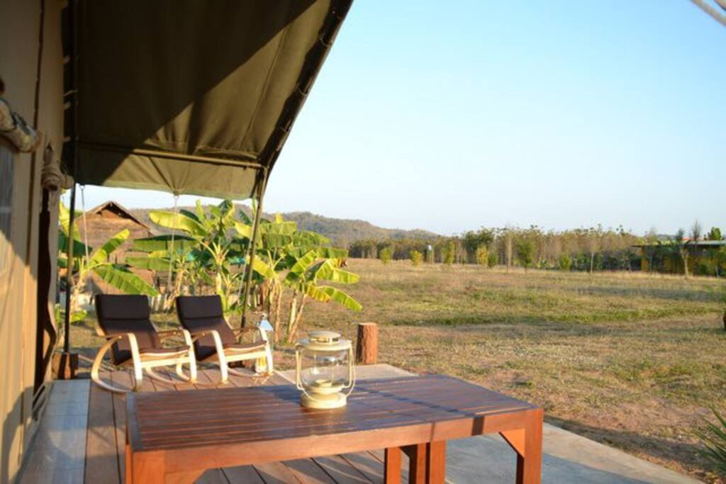 Safaritent veranda
