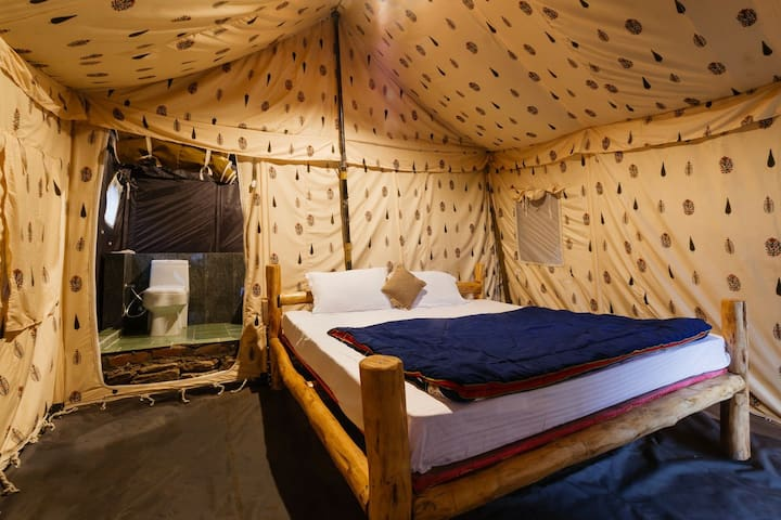 Swiss Tent with Bathroom for the budget traveller