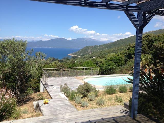 Villa piscine panoramique sur baie - Belvédère-Campomoro - Casa