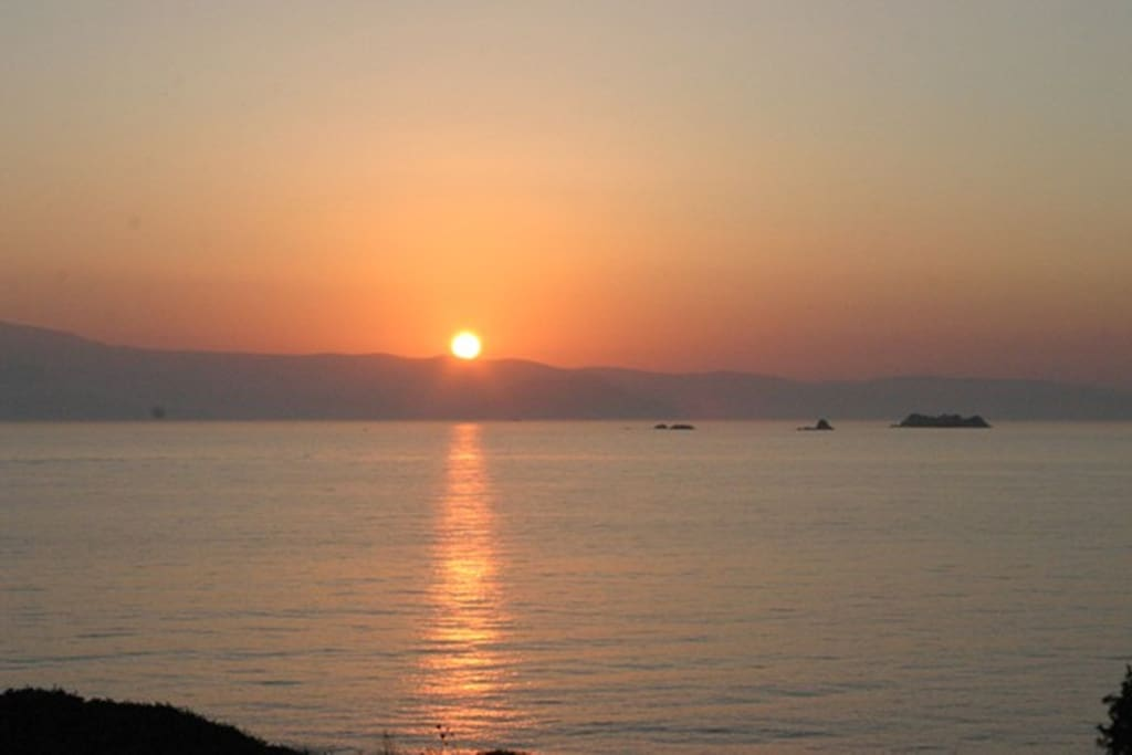 Sea View - Sunset view - Aegean sea - summer in Greece