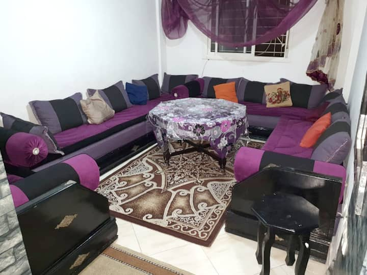 Apartment with 2 bedrooms in Agadir, with wonderful city view, enclosed garden and WiFi