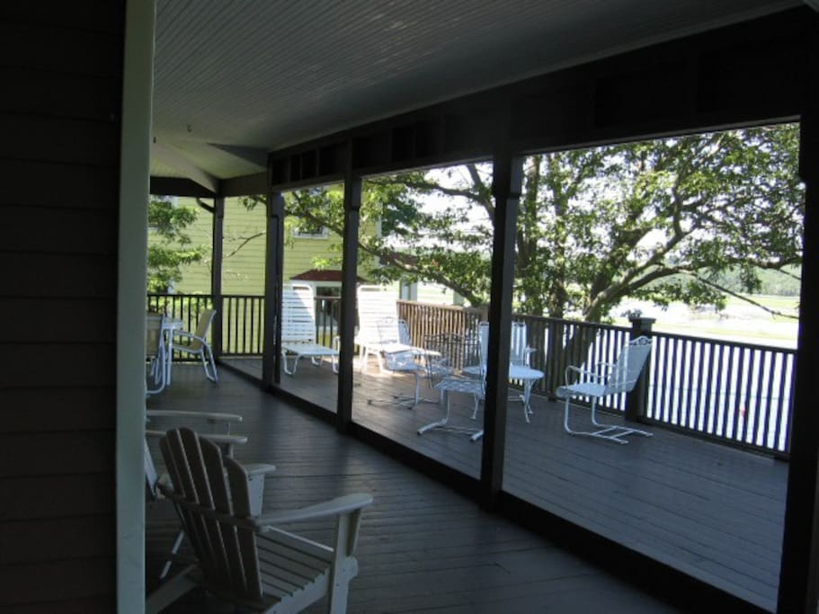 Spacious deck and covered porch