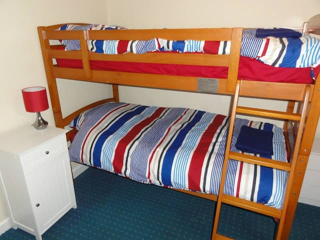 Bunk beds - all bedding provided, including extra duvets & blankets (& hot water bottles)