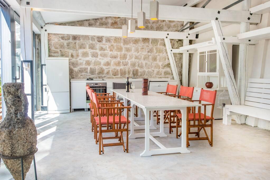 Summer kitchen dining room