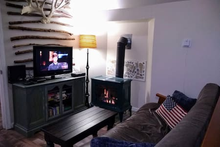 The Sunny Escape Into The Woods with Gas Fireplace
