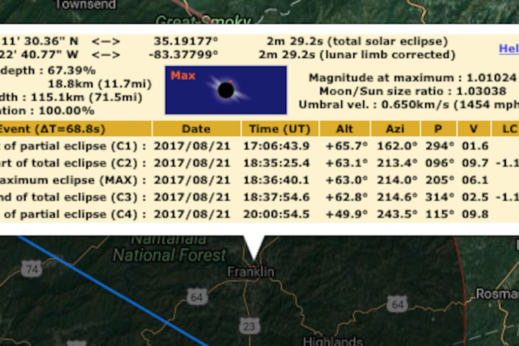 Subtract 4 hours off UT time - 2:34 pm